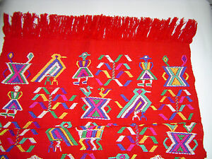 Table Cover-Wall Hanging Fair Trade Ixil Triangle Guatemala Hand Woven Cotton
