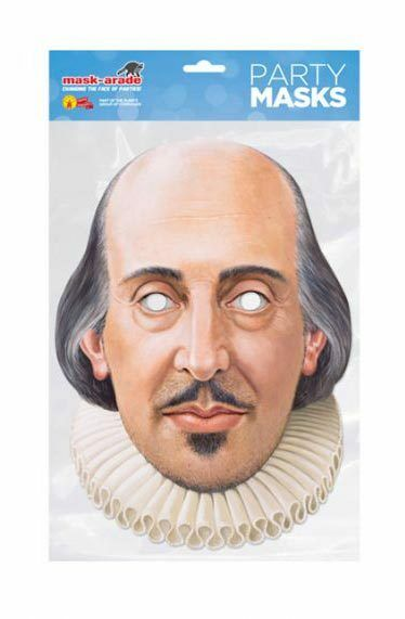 40x William Shakespeare einzeln 2D Karten Party Gesichtsmaske Playwright Dichter | Starker Wert