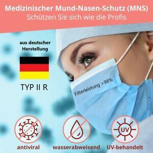 Medizinische Maske DIN 14683 Typ IIR - deutscher Hersteller - Mund-Nasen-Schutz