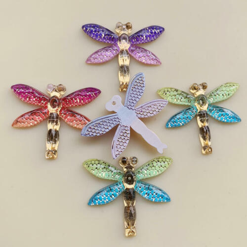 Rainbow Color Dragonfly shape for Women Summer Style Jewelry DIY pendants 10 pcs