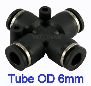 5pcs-Cross-Union-Push-In-Fitting-Tube-OD-6mm-Metric-One-Touch-Push-to-Connect