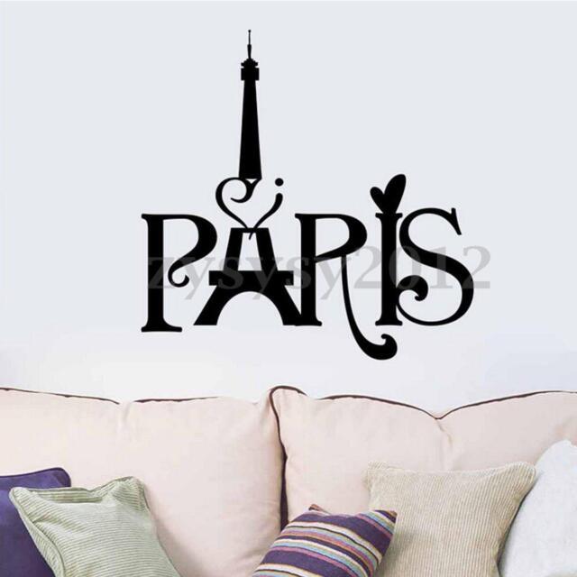 eiffel tower love paris french vinyl wall art sticker home decor