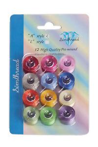 SIMTHREAD-12-Plastic-Multicolor-Polyester-Embroidery-Machine-Bobbins-Thread-60WT