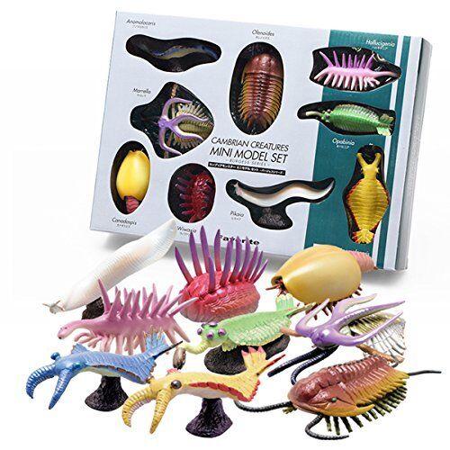Modelo Mini criaturas favoritos Cambriano Burgess Serie Dinosaurio Figura 9set FS