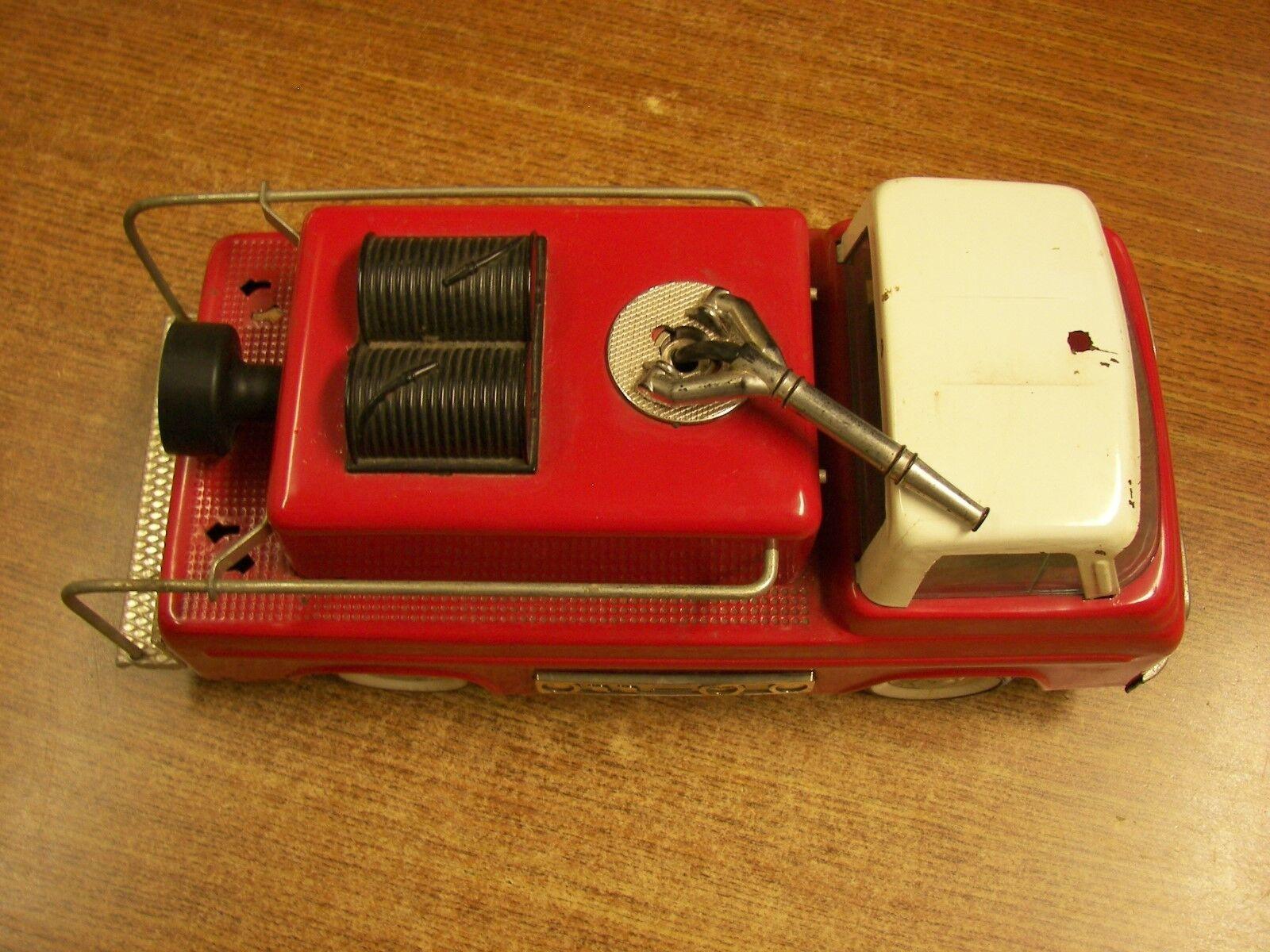 Juguete Vintage 12  largo Nylint Manguera De Jardín Gancho Metal Pumper Camión De Bomberos