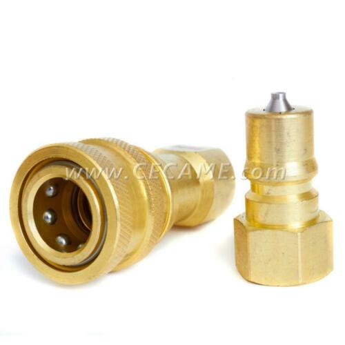 "1//4/"" Quick Disconnect Coupler Valve For Carpet Cleaning Wand Truckmount Brass"