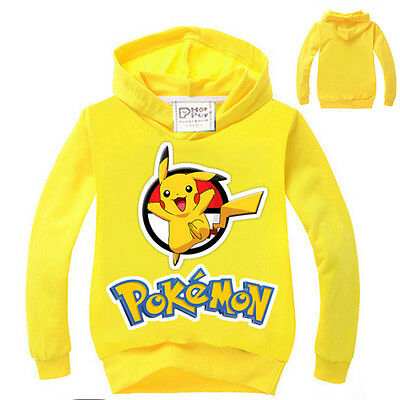 Pokemon Go Kids Boys Team Mystic Valor Top Pikachu Hoody Sweater T-Shirt Pyjamas