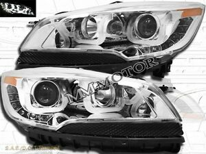 led u bar style chrome projector headlights pair for 2013. Black Bedroom Furniture Sets. Home Design Ideas