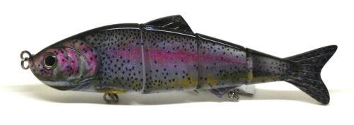 8inch Pike Musky Sea Fishing Bait Lure Swimbait Bass Pike Life Like Rainbow