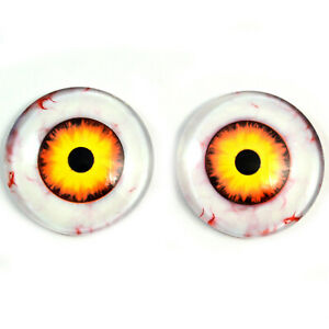 25mm Nightmare Clown Glass Eyes Scary Halloween Decorations Or Art Doll Supplies Ebay