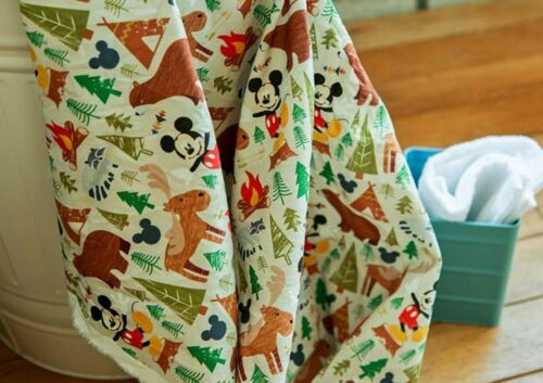 Camping forest Bear JC9//16@ Disney Mickey mouse 100/% Cotton Fabric BY THE YARD