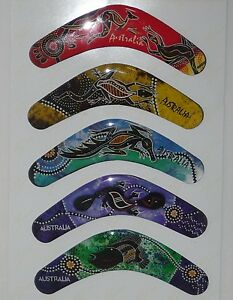 SET-of-5-AUSTRALIAN-BOOMERANG-design-FRIDGE-MAGNETs-NEW-freezer-Australia-aussie