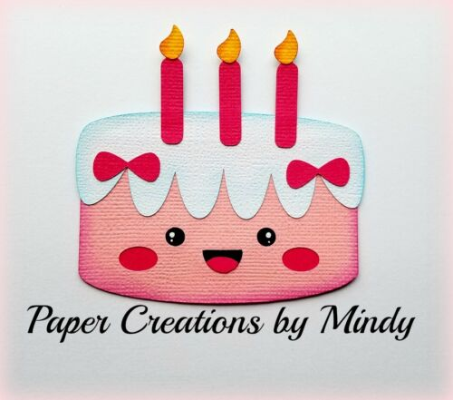 CRAFTECAFE MINDY KAWAII BIRTHDAY CAKE DIE CUT premade paper piecing scrapbook