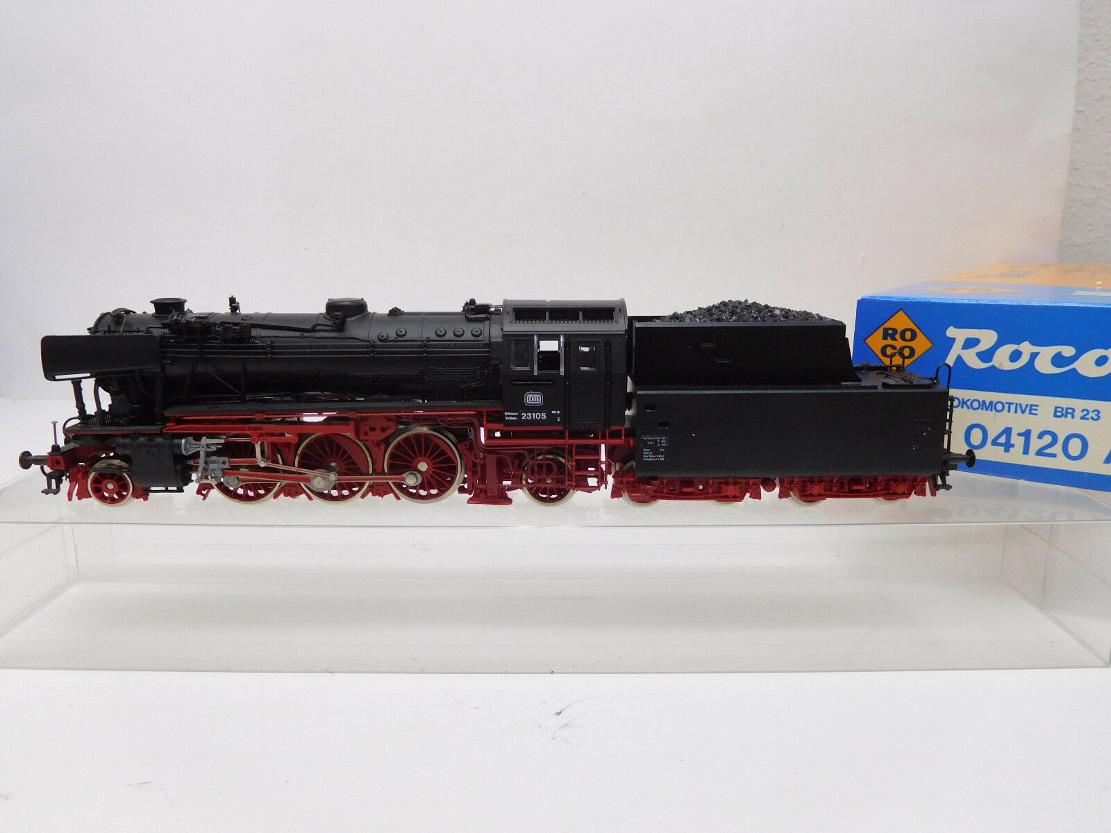 Mes-52530 Roco 04120 a h0 Steam Locomotive DB 23 105, function tested,