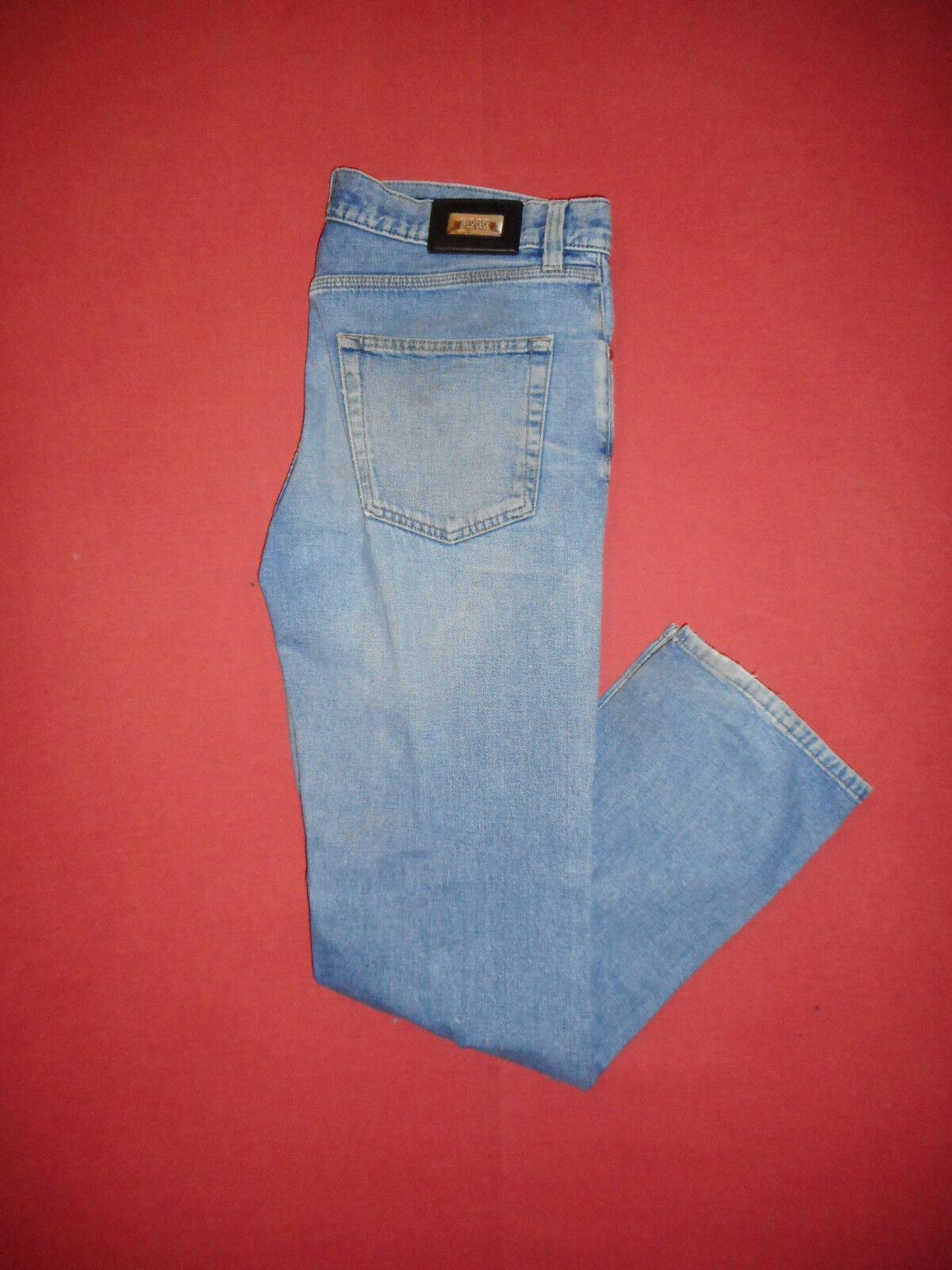 Hugo BOSS ALABAMA-W34 L32-Zip-Fly-Jeans Denim Blu Da Uomo-B318-2