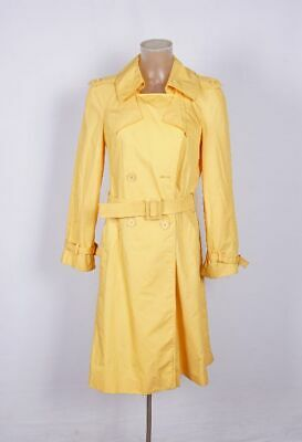 Schietto Cappotto Da Donna Vintage Impermeabile Giallo Tg. 40 Andelle Made In France Parigi-mostra Il Titolo Originale Belle Arti