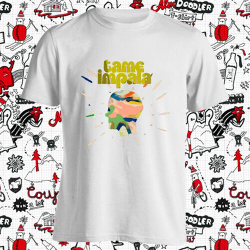 New Tame Impala Band Pop Band Album Cover Men/'s White T-Shirt Size S-3XL