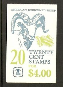 US-SC-BK142-American-Bighorned-Sheep-Plate-2-Complete-Booklet-MNH