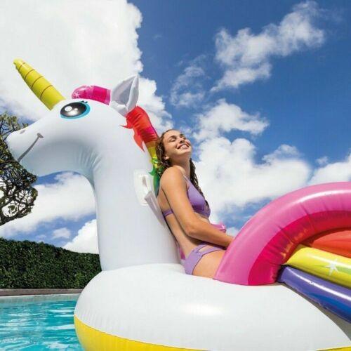 Intex Unicorno Gonfiabile 57291 Isola Materassino Mare Piscina 287x193x165cm