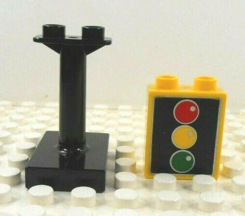 Lego Duplo Item Traffic Light 1x2 w// stanchion