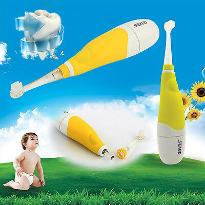 Sergo Brush Baby Sonic Kids Toothbrush 3 Brush Head Electric LED dental clean