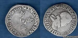 Louis-XIII-1610-1643-1-2-Franc-1655-C-Saint-Lo-VARIETE-DECALLEE-grosse-tete-la