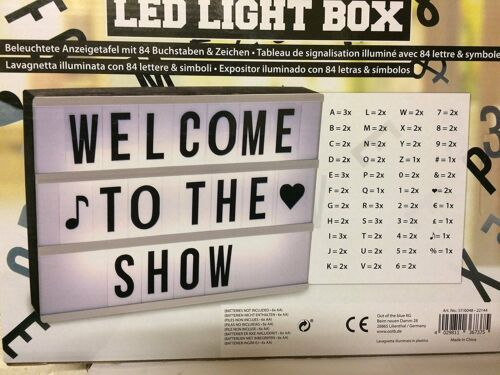 LED CINEMATIC LIGHT UP BOX WITH 84 LETTERS /& SYMBOLS MESSAGE SIGN BOARD