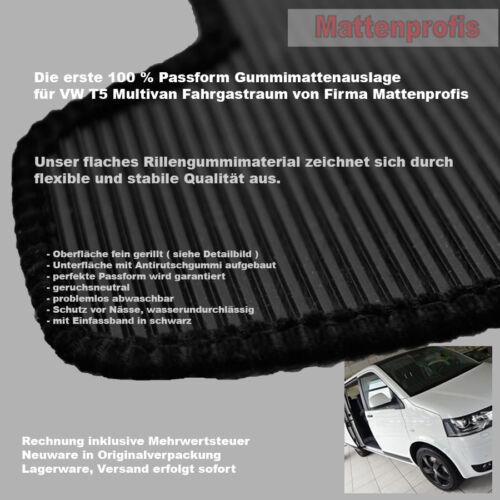 2003-2015 Gummimatten Gummifußmatten für VW T5-2 Multivan Fahrgastraum ab Bj