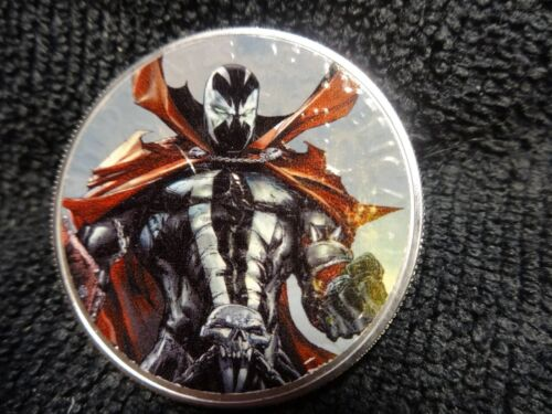 """2019 Silver Eagle Colorized  /"""" Spawn #300 /"""" Limited 20"""