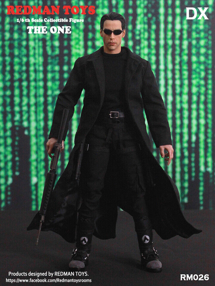 Matrix stil Den One DX figuren 1 6 figur rödman leksaker RM026
