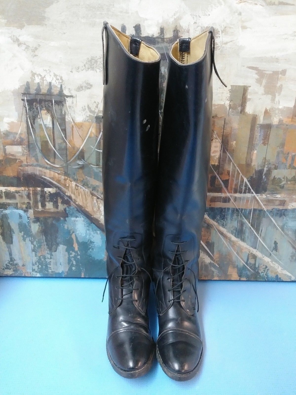 Essex Magic damen R590 Leather Long Riding Stiefel Stiefel Stiefel 6.5 M c94cb0