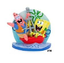 SpongeBob Squarepants Fish Aquarium Ornament With Patrick on Buoy SBR42