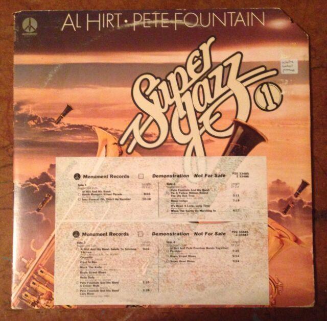 Super Jazz 1 Al Hirt Pete Fountain 2 LP Vinyl Promo White Label
