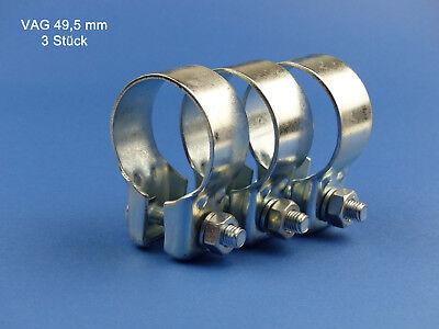 5 Stück Breitbandschelle Auspuffschelle Rohrverbinder Ø 49 mm