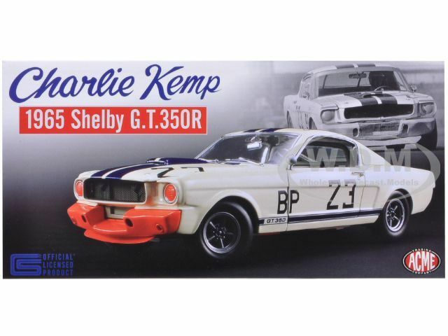 1965 FORD SHELBY SHELBY SHELBY MUSTANG GT350 R CHARLIE KEMP LTD 996PCS 1 18 ACME A1801812 b32361