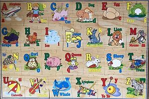First Learning 26 Piece Alphabet Wooden Floor Puzzle 2 Ft X 3 Ft Ebay