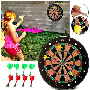 Magnetic Dart Board Dartboard 6 Darts Party Xmas Game Toy Playset