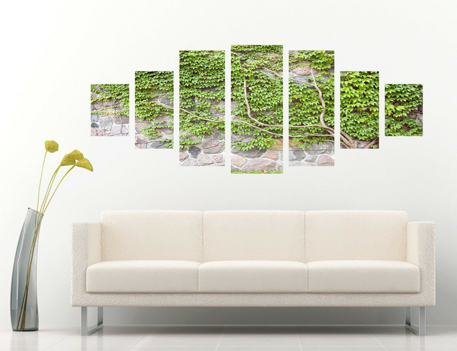 3D Green Leaf Wall 55 Unframed Print Wall Paper Decal Wall Deco Indoor AJ Wall