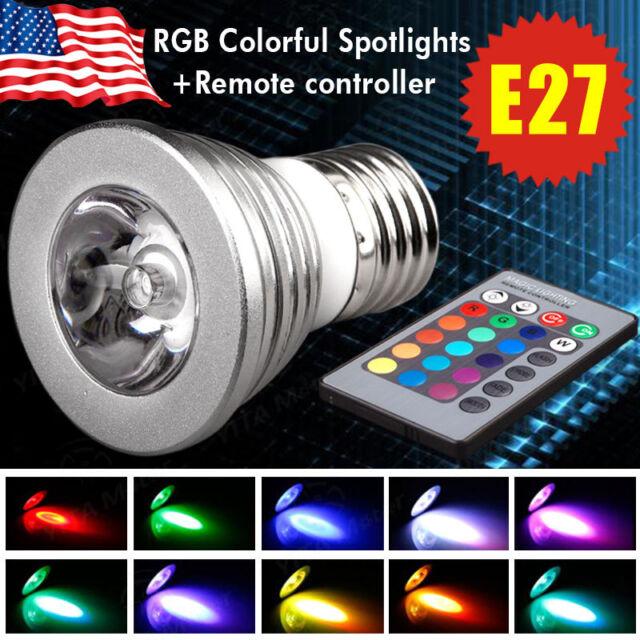 1x 3W E27 Magic 16 Color LED RGB Spot Light Bulb Lamp + Wireless Remote Control