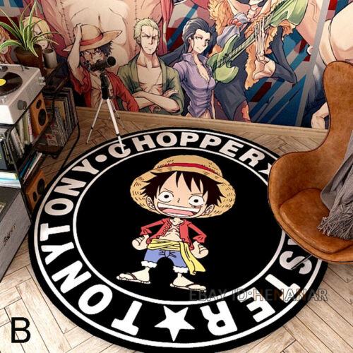 ONE PIECE Carpet Character Round Floor Mat Home Area Rugs Multi-function Anime