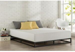 Details about Modern Metal FULL Platform Bed Frame Wood Slats Steel Low  Profile Minimalist New