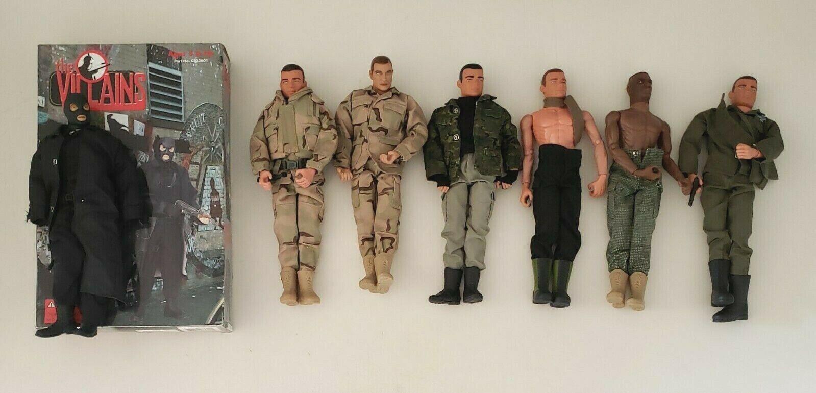 21st Century Toys Gi Joe 1998 Lote de 7 Juguete Ejército Soldado Figuras