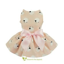"""Fitwarm 12""""Chest Lovely Pink Dog Dress XS Pet Clothes Party Apparel Shirts Vest"""