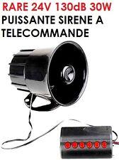 RARE 24V 130DB SIRENE ELECTRONIQUE 6 SONS A TELECOMMANDE! TRUCK CAMION DEPANNEUR