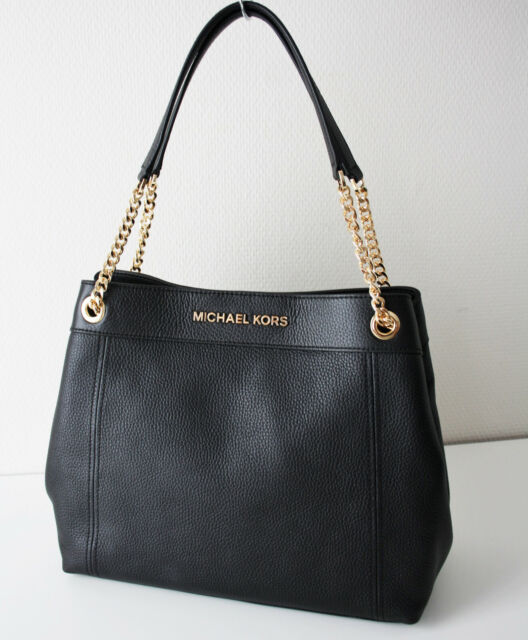 Michael Kors Large Chain Shoulder Pebbled Leather Tote