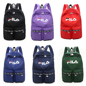 c113e9c341 Image is loading Boys-Girls-FILA-Backpack-Rucksack-School-Bag-Handbag-