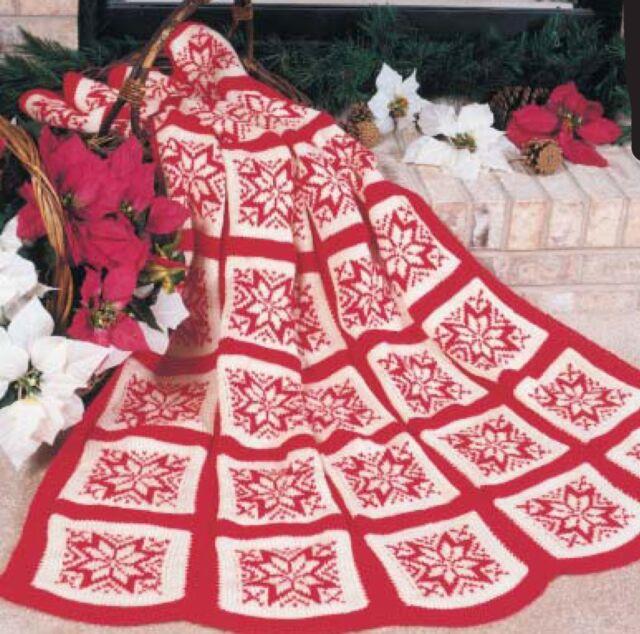 Knitting Pattern Christmas Snowflake Blanket To Knit In Aran