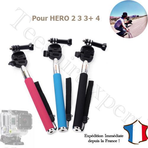 4 5 selfie Adaptateur Vis pour Gopro Hero 2 3 Perche Télescopique Monopode
