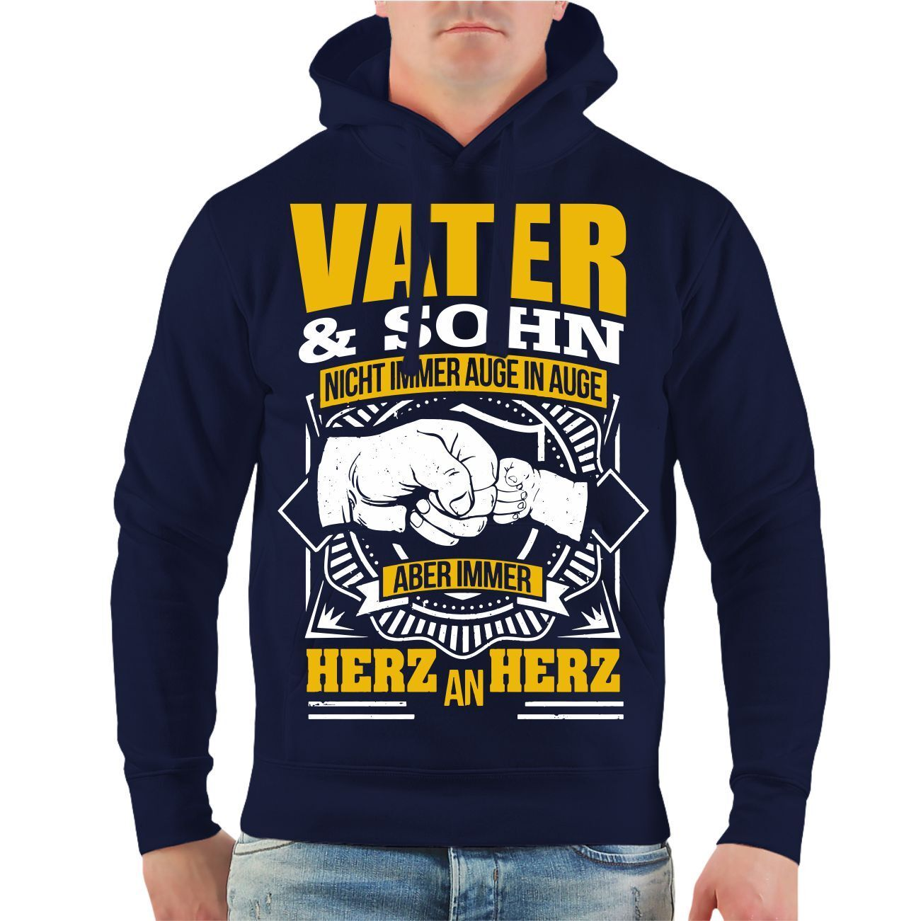Kapuzenpullover Hoodie Vater & Sohn Vatertag Papa Männertag Himmelfahrt Geschenk