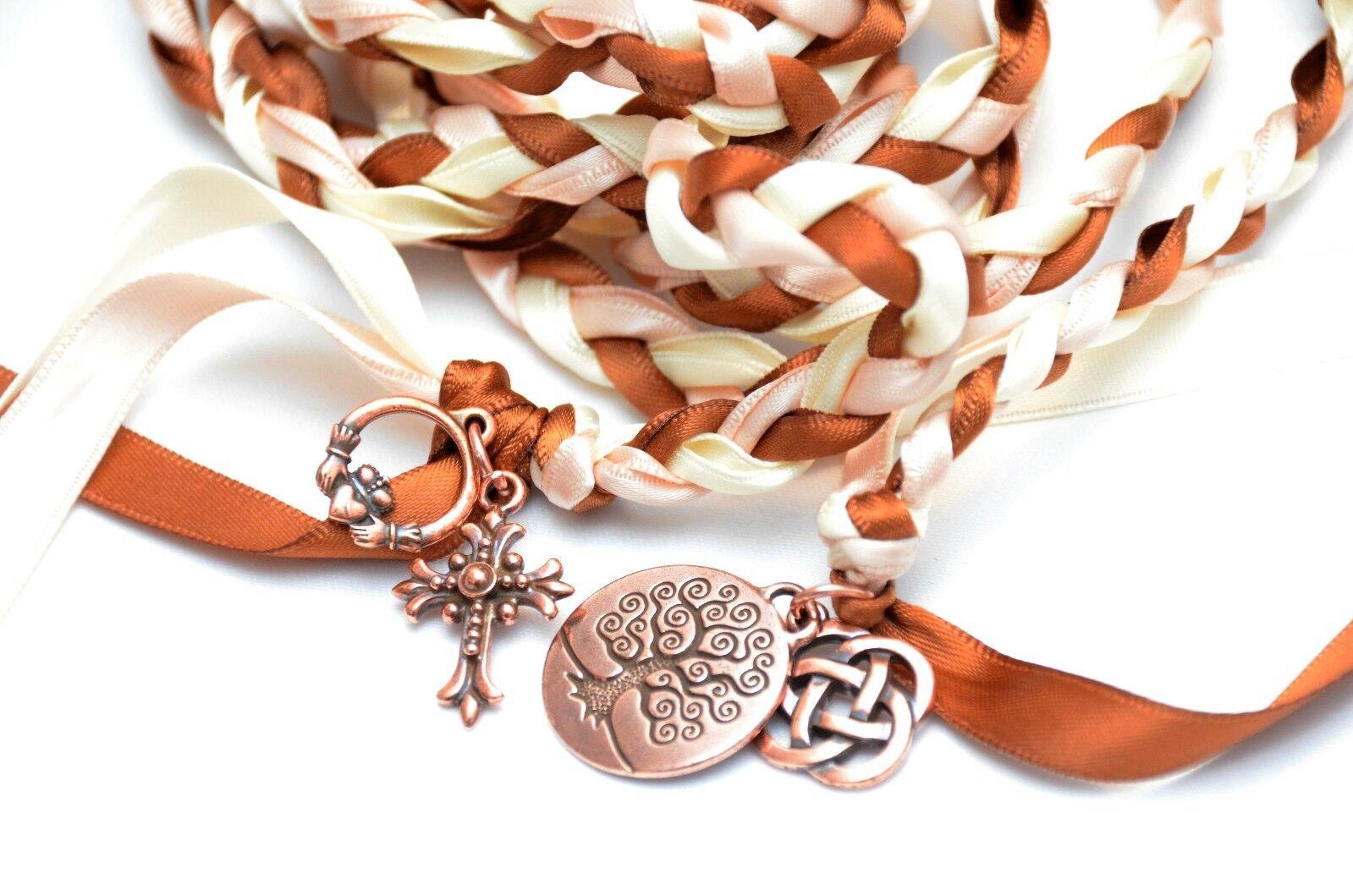4 Charm Copper Dream Celtic Wedding Handfasting Cord  Celtic  Wedding